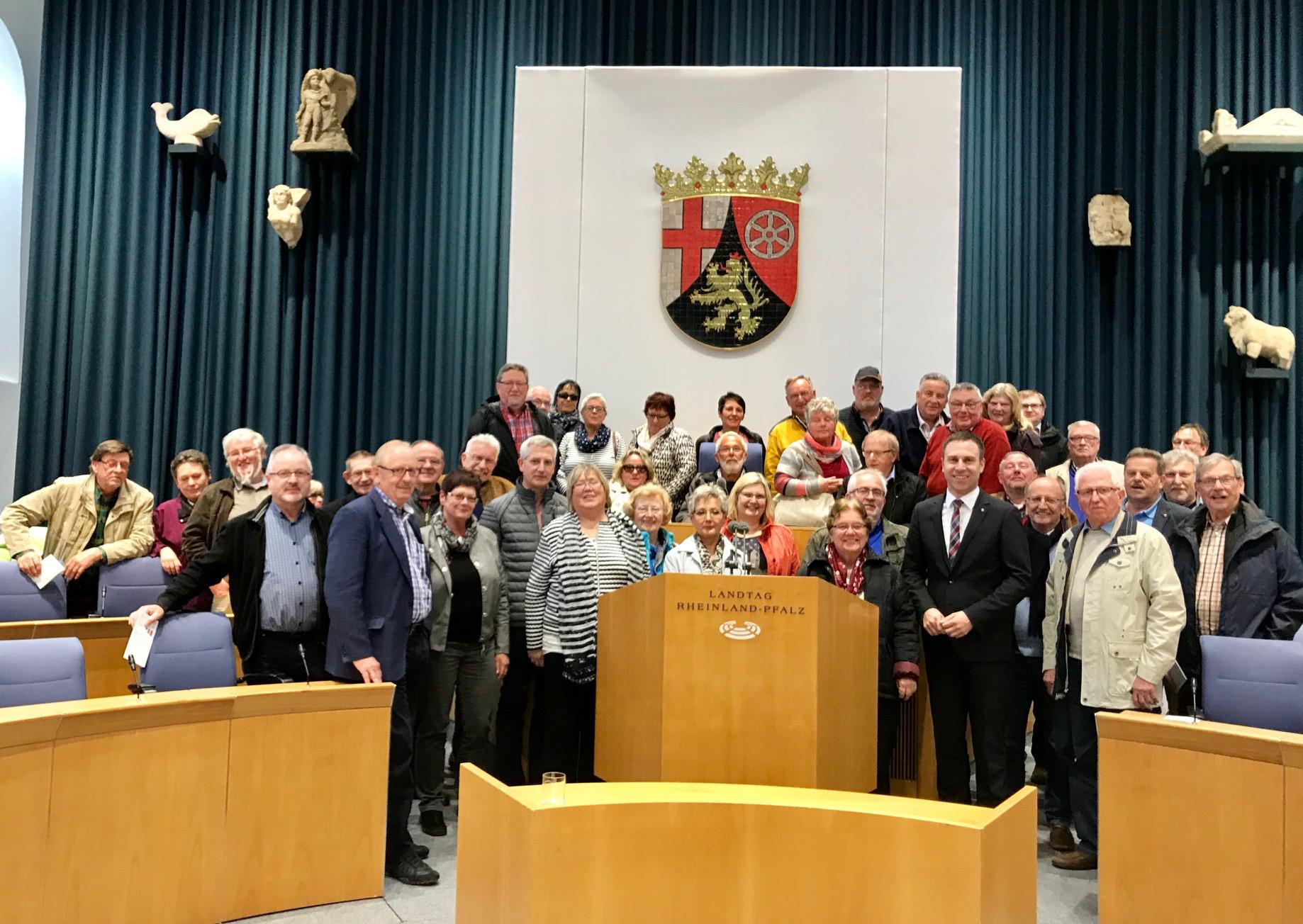 SPD Arbeitsgemeinschaft 60 plus besucht Landtag in Mainz