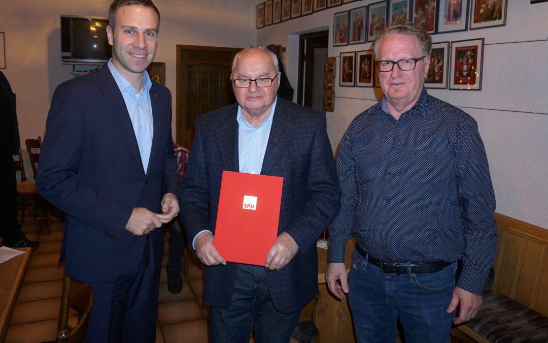 50 Jahre SPD Mitgliedschaft – Ehrung für Norbert Orth