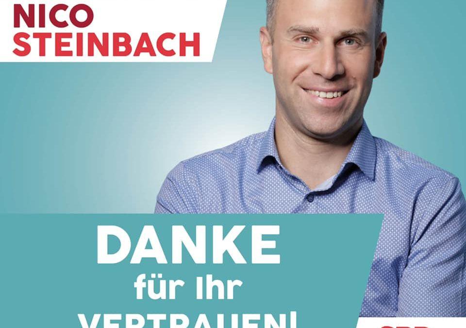 Nico Steinbach, MdL: Direktmandat erneut gewonnen