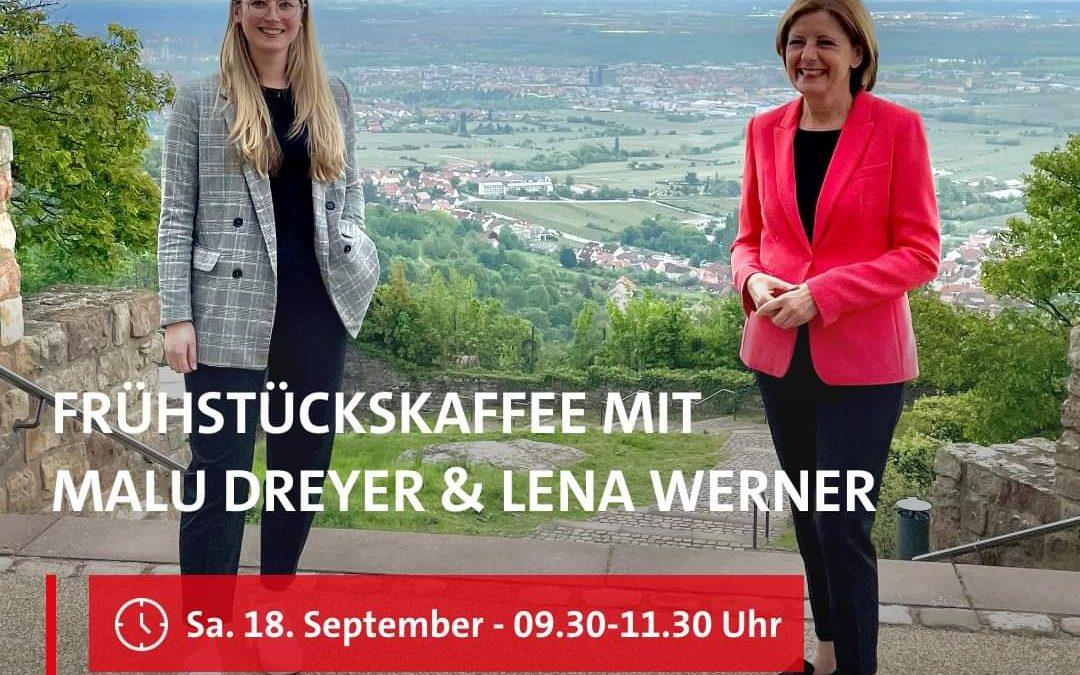 Frühstückskaffee mit Malu Dreyer & Lena Werner
